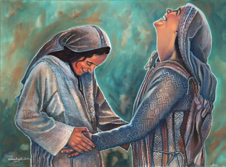 Mary's Christmas Story - Mary and Elizabeth