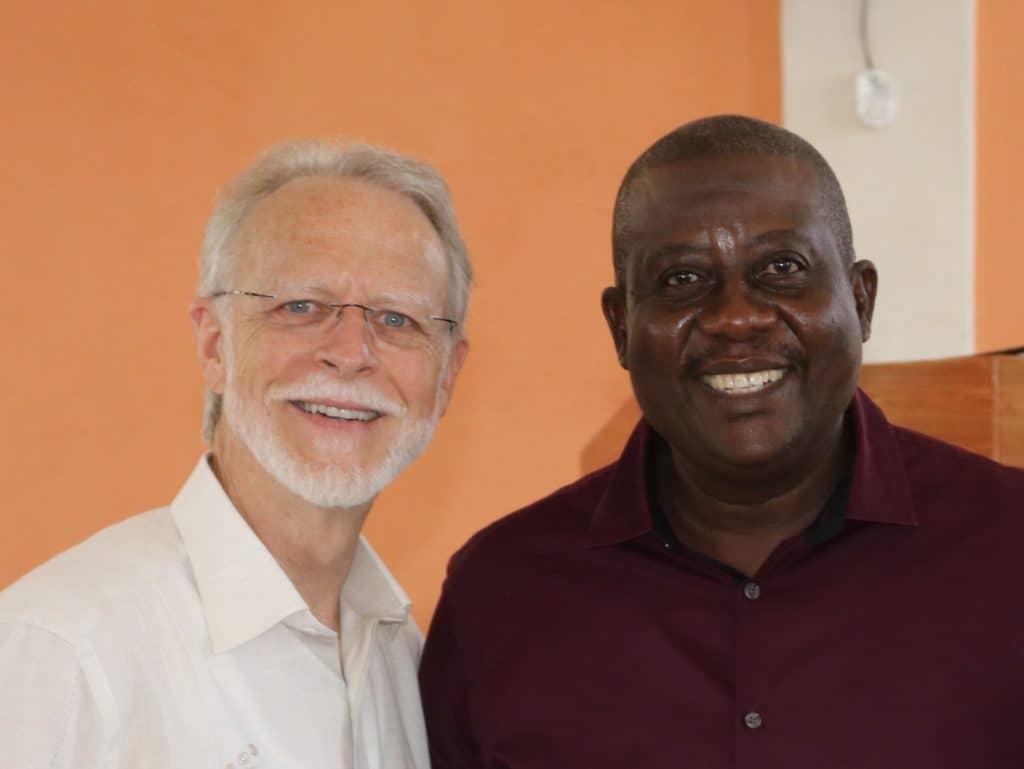 Ward Cushman and Pastor Jean Claude Cimeus